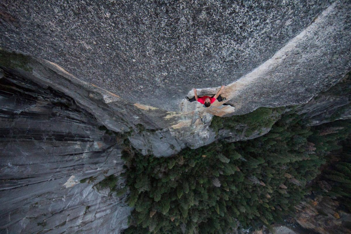 Alex Honnold su Freerider, El Cap. Foto di Jimmy Chin, National Geographic