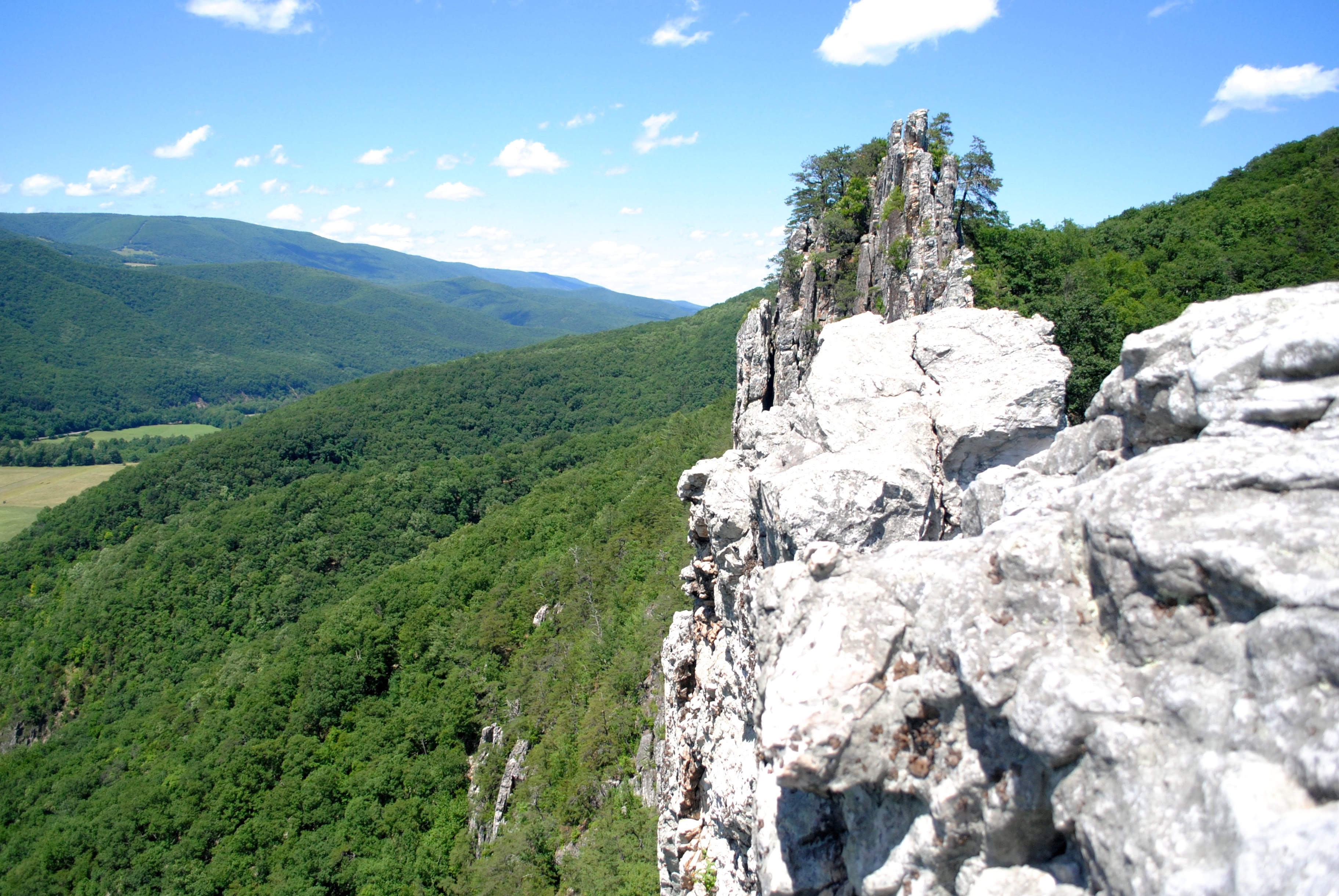 Seneca Rocks, where escaping civilization is possible.