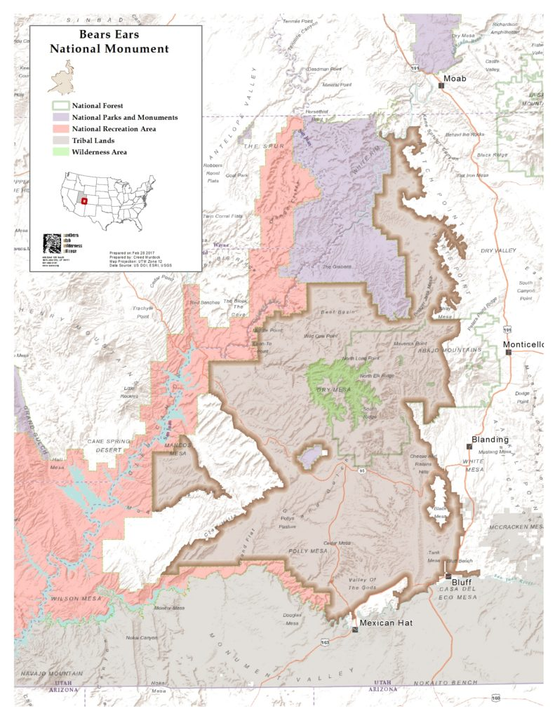Bears Ears Area (chart by SUWA)